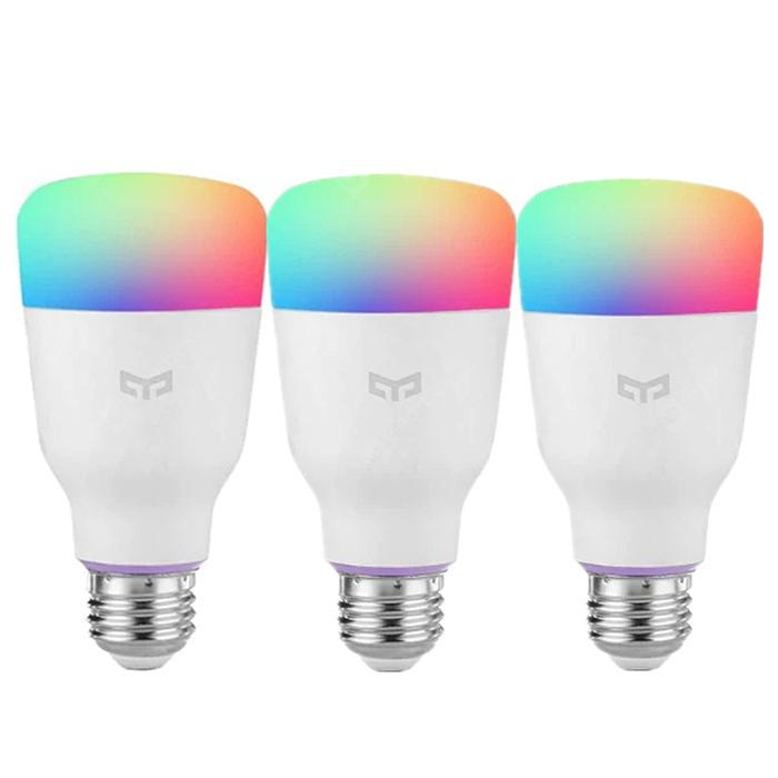 YEELIGHT 10W RGB E27 Smart Pærer 3pcs - WHITE E27 3PCS
