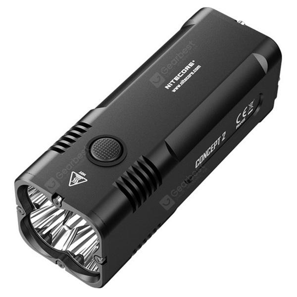Nitecore C2 6500 Lumen Rechargeable Flashlight - BLACK