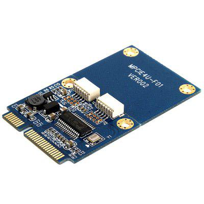 Mini PCIe to 2 Ports USB 2.0 Hub Adapter Converter Card