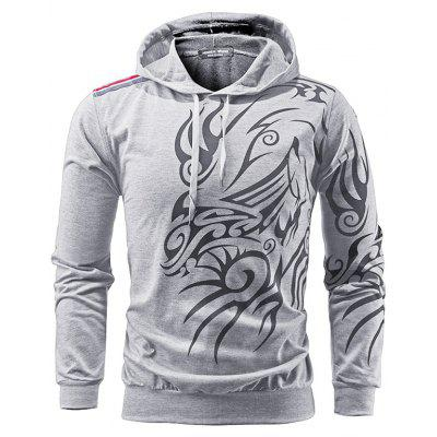 Men Stylish Hoodie with Cool Motifs