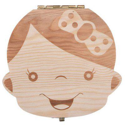 Fashion Creative Wooden Teeth Box for Baby
