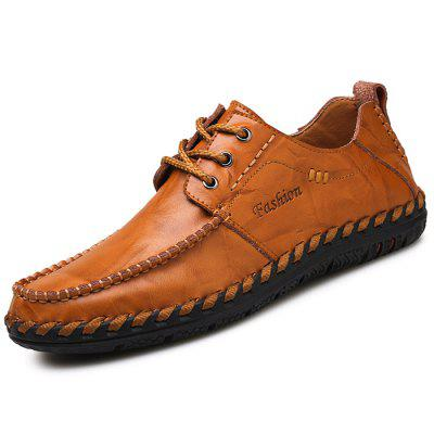 Men Stylish British Style Anti-slip Leather Casual Shoes