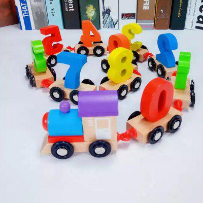 Number Train Model Puzzle Jigsaw Building Blocks Toy Gift for Kids