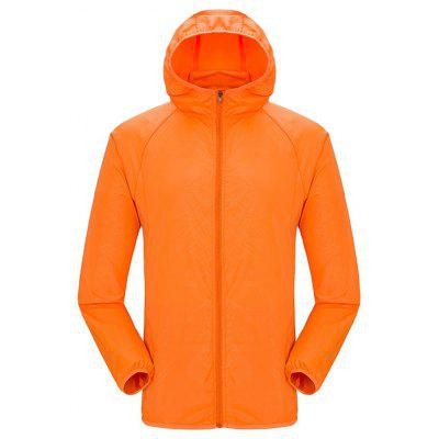Men Pure Color Ultra-light Water Resistant Jacket