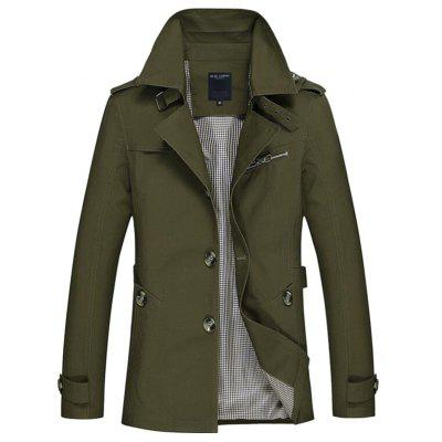 Stylish Wear resistant Leisure Men Trench Coat