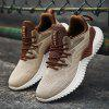 Male Stylish Breathable Mesh Cloth Sneakers - BEIGE