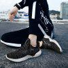 Male Stylish Breathable Mesh Cloth Sneakers - NATURAL BLACK
