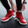 High Top Microfiber Casual Shoes for Men - RED