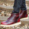 Genuine Leather Stylish Martin Boots for Men - RED WINE