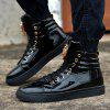 Stylish Metal Decoration Leisure Sneakers for Men - BLACK