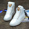 Stylish Metal Decoration Leisure Sneakers for Men - WHITE