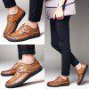 Personality Casual Handmade Leather Shoes for Man - BROWN