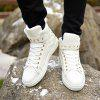Men Leisure Warm High Sneakers - WHITE