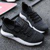 Casual Breathable Mesh Sneakers for Men - BLACK
