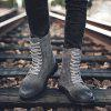 English Style Vachette Clasp Work Shoes Boots for Men - GRAY