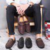 Stylish Microfiber Loafers for Men - RED WINE