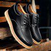 Height Increase Genuine Leather Shoes for Men - BLACK
