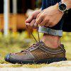 Male Genuine Leather Casual Wearable Shoes - DEEP BROWN