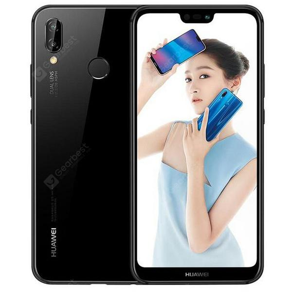 Refurbished HUAWEI Nova 3e ( HUAWEI P20 Lite ) 4G Phablet International Version -  Black