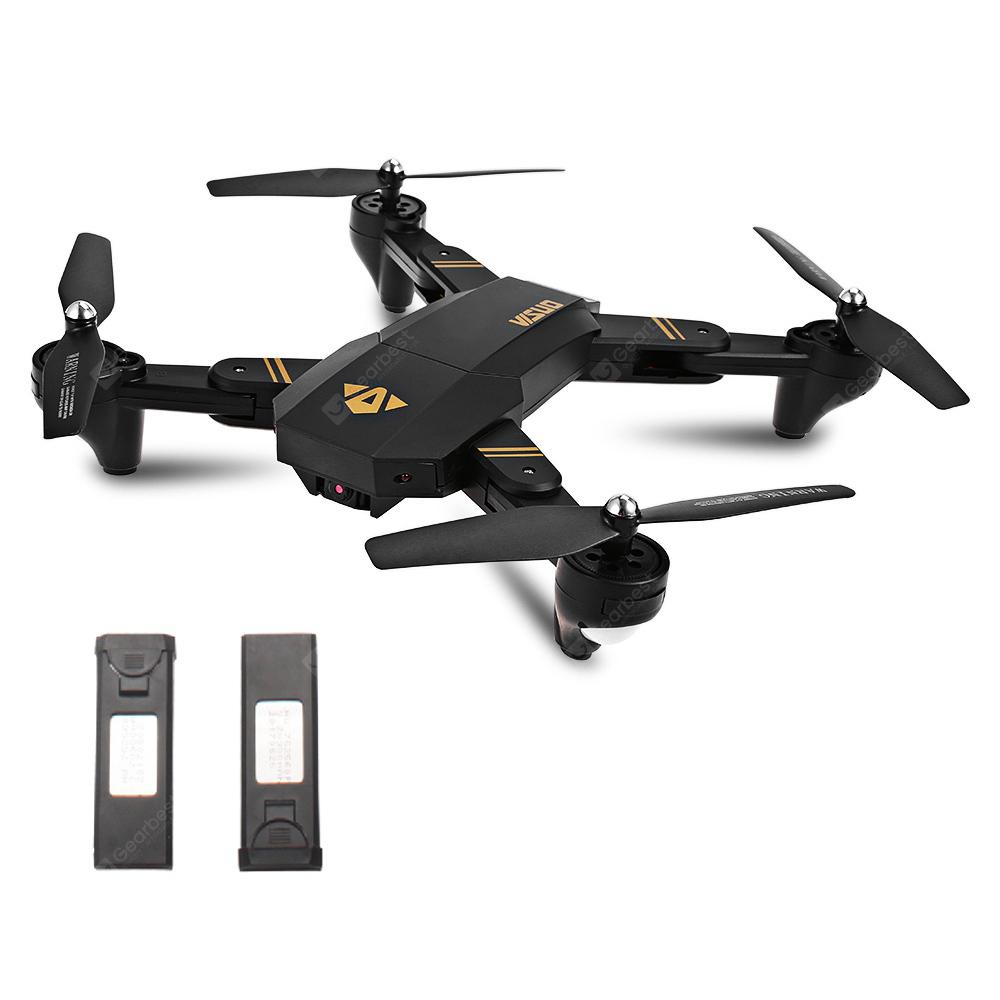 TIANQU XS809W Foldable RC Quadcopter - RTF - BLACK WITH TWO BATTERIES 2MP WIDE-ANGLE CAMERA + AIR PRESS ALTITUD