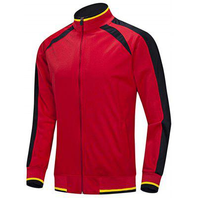 Men's Long Sleeve Comfortable Striped Sports Jacket