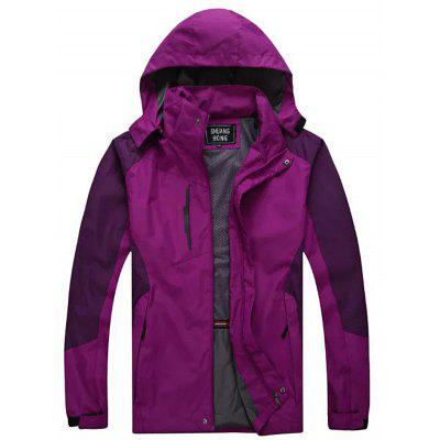 Matching Color Hooded Outdoor Jacket for Men