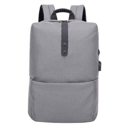 Trendy Stripe Business Laptop Backpack with USB Port