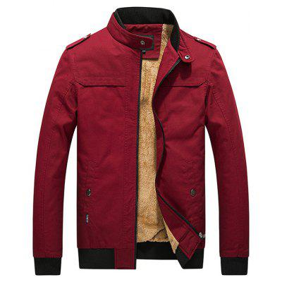 Male Fashionable Slim Fit Thick Warm Jacket