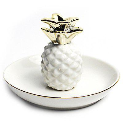 Pineapple Jewelry Gadget Ceramic Storage Dish Jar for Domestic