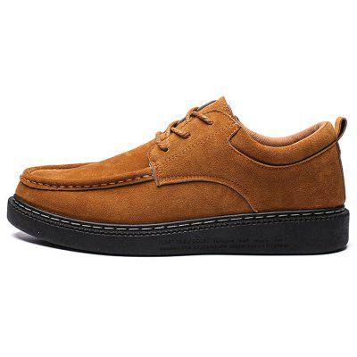 Stylish Lightweight Suede Lace-up Flat Men Casual Shoes
