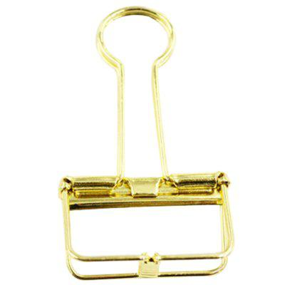 Metal Plating Wire Binder Clip Hollow Out Paper Organizer 10pcs / Pack
