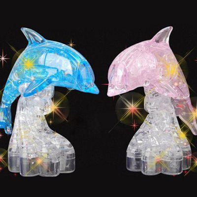 3D Children DIY Crystal Puzzle Creative Building Blocks
