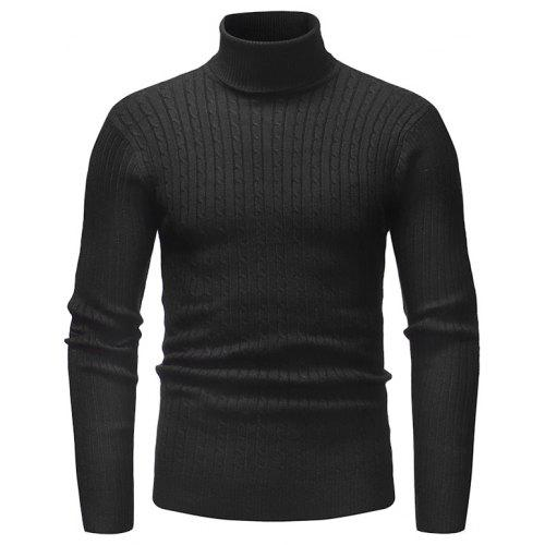 Fashion Comfortable Classic Turtle Neck Stripe Sweater