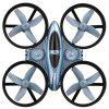 Q808 Ducted RC Drone Hover Headless Mode 3D Stunt Quadcopter - BLUE GRAY