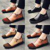 Casual Two Tone Loafers for Men - BLACK