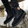 Flannel Outdoor High-top Martin Boots for Man - BLACK