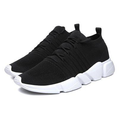 Men Fashionable Street Breathable Mesh Running Sneakers