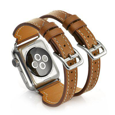 Pliable and Durable Men Leather Strap for Apple Watch 42mm