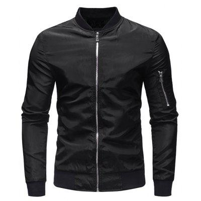 Solid Color Fashion Jacket for Men