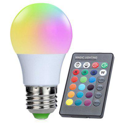Aluminum Shell RGBW LED Smart Bulb with Remote Control