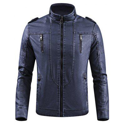 Vintage Fashion Stand Collar Jackets for Men