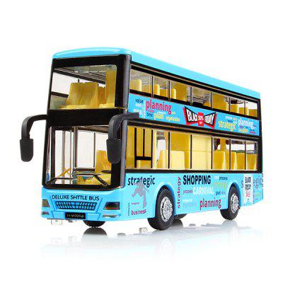 Kids Alloy Pullback Double-decker Bus with Lighting Sound Toy