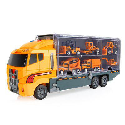 Kids Container Truck with Mini Alloy Car Model Set Toy