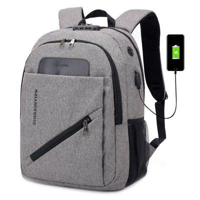 DINGXINYIZU Air-permeável Zipper Backpack