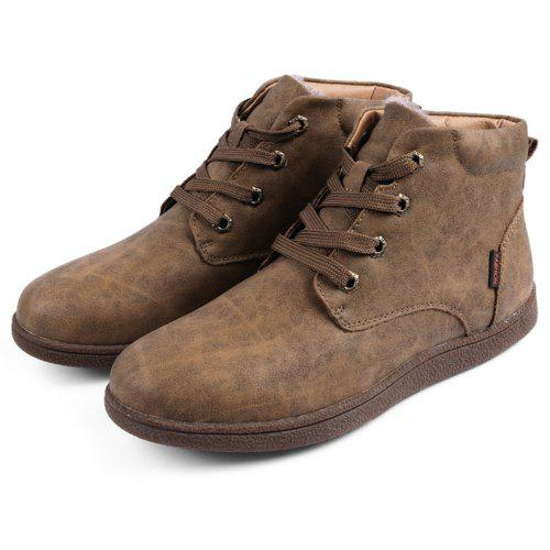Men Retro Winter Warm Cotton-padded Leather Boots
