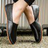 Leisure Lightweight Slip-on Breathable Flat Casual Shoes - BLACK