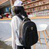 Aofeng 054 Korean Version Notebook Backpack for Holding Stuff - BLACK