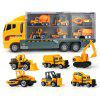 Kids Container Truck with Mini Alloy Car Model Set Toy - YELLOW