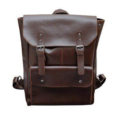 Men Fashion Casual Retro Leather Backpack