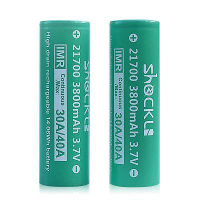 Shockli 21700 3800mAh 3.7V Rechargeable Battery 2PCS